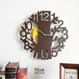 振り子時計 【RカードエントリーでP12倍】 【送料無料】 Picus ピークス 掛け時計 | 時計 おしゃれ お洒落 かわいい インテリア ステップムーブメント 壁時計 壁掛け時計 振り子時計 振り子 シンプル 北欧 ポップ ナチュラル レトロ リビング ダイニング 子供部屋 一人暮らし ギフト