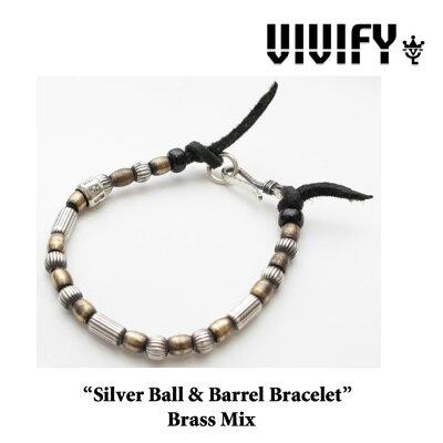【2014 2nd EXHIBITION先行予約】VIVIFY(ヴィヴィファイ)Silver Ball & Barrel Bracelet/Brass Mix【VFB-115】【VIVIFY(ヴィヴィファイ)ブレスレット】