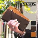 スロウ SLOW ボーノ L字ファスナー 長財布 メンズ 栃木レザー bono 小銭入れ付き 333S76I
