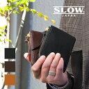 【1年保証】 スロウ SLOW ボーノ L字ファスナー 二つ折り財布 メンズ bono 折財布 栃木レザー 333S77I