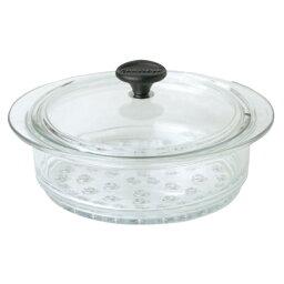 耐熱ガラス鍋 フランス製 CHASSEUR シャスール ガラススチーマー 24cm [蒸し器・むし鍋]