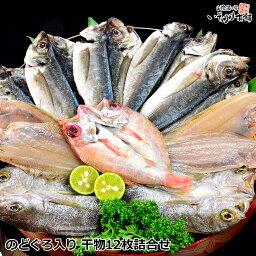 干物 母の日 父の日 ギフトのどぐろ 入り 干物セット 島根県産 日本海、国産 の 魚 の 干物 12枚 詰合せ 白身のトロ、 ノドグロ ( あかむつ ) いか かれい あじ ( アジ ) の 陰干し 一夜干し ひもの 送料無料 産地直送 産直