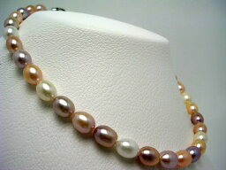 パールネックレス(レディース) 真珠 ネックレス パール 淡水真珠 8-8.75mm マルチカラー シルバー クラスップ 64916 イソワパール