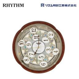 からくり時計 スモールワールドコンベルS 4MN480RH23 【条件付送料無料】 電波掛け時計/おしゃれな壁掛け電波時計/電波掛時計/電波からくり時計/電波アミュージング時計/時報メロディー・かわいい回転飾り/リズム時計工業(RHYTHM・シチズン系列)