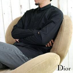 クリスチャンディオール DIOR HOMME ディオールオム 233C531A1581 ドレスシャツ 比翼シャツ 900/ブラック 【送料無料】 【即納】