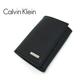 カルバンクライン キーケース(メンズ) Calvin Klein カルバンクライン 6連キーケース キーリング付き ブラック 79216 カルバンクライン キーケース
