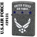 ミリタリーZippo (キャッシュレス5%還元)zippo(ジッポーライター)The United States Air Force #29121 Iron Stone base【ネコポス対応】