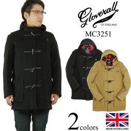 グローバーオール グローバーオール GLOVERALL MC3251 ミッドレングス ダッフルコート (防寒 英国製 メンズ ハーフ ショート)