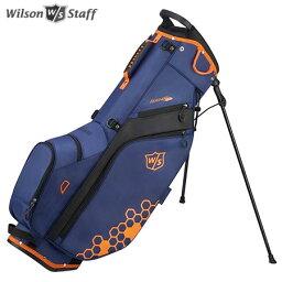 ウィルソン ウイルソン FEATHER CARRY BAG 9.5型 スタンド キャディバッグ ブルー/ブラック/オレンジ WILSON STAFF