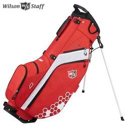 ウィルソン ウイルソン FEATHER CARRY BAG 9.5型 スタンド キャディバッグ レッド/ホワイト/ホワイト WILSON STAFF