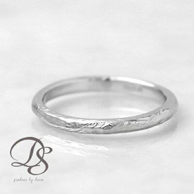プラチナ リング レディース Pt950 platinum 指輪 レディース オシャレ メンズ リングダメージ風 シンプル 1号 2号 3号 4号 5号 ring誕生日 ギフト プレゼント 贈り物 ペアリング 結婚指輪DEVAS ディーヴァス 【送料無料】