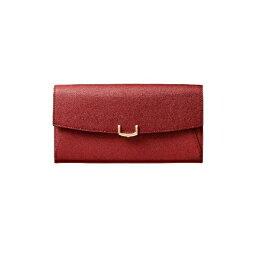 カルティエ 財布(レディース) C ドゥ カルティエ 2 Cartier インターナショナル ワレット 長財布 かぶせ レッド