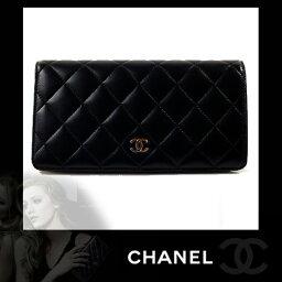 シャネル 二つ折り財布(レディース) CHANEL シャネル サイフ 財布 マトラッセ レディース CHANEL シャネル サイフ 財布 長財布 マトラッセ 二つ折り財布 ブラック A31509