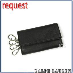 ラルフローレン ラルフローレン ポロ Ralph Lauren ラルフローレン レザー 4連キーケース ブラック 送料無料 代引き料有料 消費税込