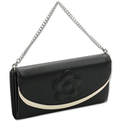 Mary Quant マリークワント 財布 長財布 クラシカルデイジー パース ブラック