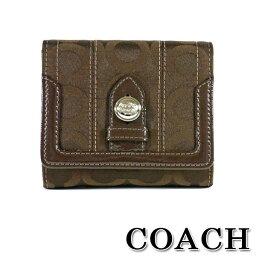 トライベッカ コーチ COACH トライベッカ オプアート フレンチ パース 2つ折り財布 ダークブラウン 43123