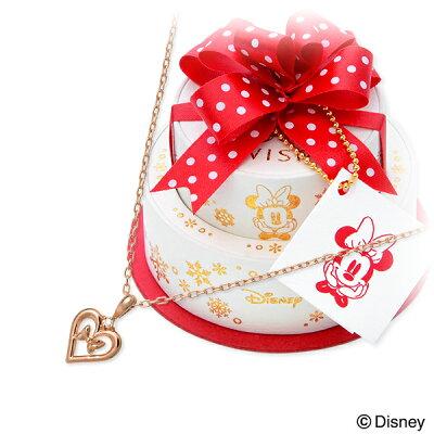 【店内全品ポイント10倍】WISP DISNEY Disney ピンクゴールド ネックレス ダイヤモンド ハート 【当店オリジナル】 20代 30代 彼女 レディース 女性 誕生日プレゼント 記念日 ギフトラッピング ウィスプ ディズニー Disneyzone ミニーマウス 送料無料 母の日