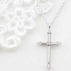 ネックレス レディース クロス プラチナ ネックレス ダイヤモンド ペンダント Pt900 Pt850 十字架 ミルウチ necklace ホワイトデー プレゼント