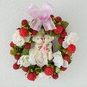 テディベア 【リース 造花】ウェディングベア リース マシュー&オリヴィア【ギフト 贈り物 結婚】