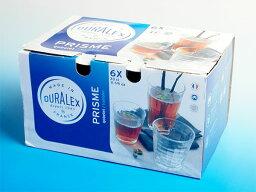 デュラレックス 熱湯 レンジ 食洗機OK デュラレックス プリズム 330cc■内箱入り6個セット■ グラス タンブラー DURALEX