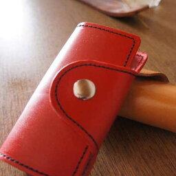 イタリア革の名入れキーケース オーダーキーケースSide【キーケース】選べる皮革カラーとステッチカラーでオリジナルキーケースをお作りします。MADE IN JAPAN イタリア革を衝撃の価格で 【誕生日】【本革】【プレゼント】【名入れ】