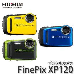 FinePix FUJIFILM【フジフイルム】 防水デジカメ FinePix XP120 [XP-120:イエロー/ブルー/ライム]【快適家電デジタルライフ】