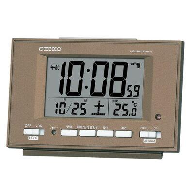 SEIKO(セイコー) セイコークロック 【置時計】 SQ778B 【自動点灯電波デジタル目覚まし時計】【快適家電デジタルライフ】