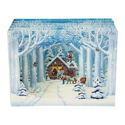サンリオ メッセージカード クリスマスカード 森の奥のログハウス 3D[Sanrio]サンリオメッセージカード・立体カード