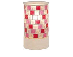 トリコ モザイク ガラス アロマ ライト 3色の色ガラスをモザイク模様のように敷きつめたキュートな「トリコ アロマランプ Pink(ピンク)」 キラキラ光る鮮やかな灯りがお部屋を彩る照明[代引不可]