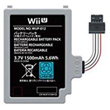 WII 【送料無料】【新品】Wii U GamePad バッテリーパック 1500mAh 任天堂 純正品 本体