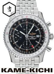 ナビタイマー 腕時計(メンズ) ブライトリング ナビタイマーワールド Ref.A242B26NP 新品 ブラック (BREITLING Navitimer World)【楽ギフ_包装】