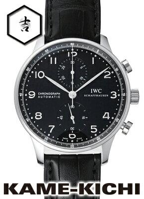 IWC ポルトギーゼ クロノグラフ Ref.IW371447 新品 ブラック (IWC Portuguese Chronograph)【楽ギフ_包装】