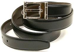 ブルガリ ベルト(レディース) BVLGARI ブルガリメンズリバーシブルベルトロゴ刻印バックル ダークブラウン×ブラックカーフ黒色 茶色 BELTフリーサイズビジネス用としてオススメ!