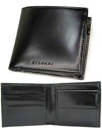 ブルガリ 二つ折り財布(メンズ) BVLGARI ブルガリ クラシコ小銭入れ付き2つ折り財布スムースカーフ ブラックCLASSICO 20064メンズ 二つ折り財布SMOOTH CALF BLACKサイフ さいふ ウォレットロゴ刻印