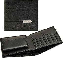 ブルガリ 二つ折り財布(メンズ) BVLGARI ブルガリ メンズ小銭入れ付き二つ折り財布 ブラック小銭入れ無しカードケース ダークブルー×ブラックオクト刻印ロゴプレート型押しカーフレザーセルペンティースカリエマンOCTO SERPENTI SCAGLIE MAN WALLET