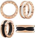 ブルガリ Bzero1 指輪(レディース) BVLGARIビーゼロワンリングブルガリ 指輪 ホワイトセラミック ブラックセラミック18Kローズゴールド 螺旋を細く解釈したデザインピンクゴールドB-Zero1 RING円形競技場コロッセオインスピレーション