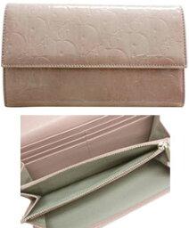 ディオール 長財布(レディース) Christian Dior クリスチャンディオール二つ折長財布 ロゴグラムエナメル素材 レディースレディーディオール LADY DIORサイフ さいふ ウォレットS0016PEML-415ローズパレ/ピンク