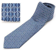 シャネル ネクタイ シャネル ネクタイCHANEL ブルー系 マイクロCCロゴ刺繍 メンズ スーツネクタイNTK00488