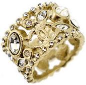 シャネル 指輪 CHANEL シャネル リングゴールド×ジルコニアCCロゴ ココマーククリアラインストーン 約13号指元のアクセントにA41863 Y02003 Z0000指輪 RING