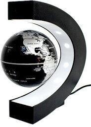 地球儀 アーチ型の土台ベースのLEDライトが暗闇でも引き立たせる空間神秘的に中に浮く地球儀電磁誘導マグネットグローブ電源を入れると磁力が発生し、地球儀が中に浮きますシルバー ブルー ゴールド ブラック マルチカラーLEDインテリアやプレゼントとして人気