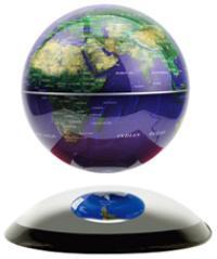 地球儀 ドーム型ミラーベースの上で浮揚する地球儀神秘的に中に浮く直径14cmの地球儀マグネチックグローブ電磁誘導マグネットグローブブルーオーシャン ゴールド ブラック電源を入れると磁力が発生し中に浮きますインテリアやプレゼントとして人気