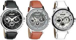 コードネーム 腕時計(メンズ) ドルチェ&ガッバーナ ウォッチ コードネームD&G TIME WATCH Codename DW0210 DW0211 DW0212WHレザーバンド カラフル文字盤 クロノグラフ リストウォッチ腕時計 アナログDOLCE&GABBANA ドルガバ ディー&ジー メンズ