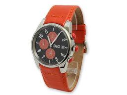 サンドパイパー 腕時計(メンズ) ドルチェ&ガッバーナ 腕時計 サンドパイパーD&G TIME watch SANDPIPER 3719770107アナログ 日付表示 クロノグラフオレンジレザーベルト DOLCE&GABBANA ドルガバ ディー&ジー メンズ