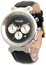 rhythm D&G 腕時計ドルガバ アナログウォッチ リズムブラック文字盤×シルバーケース×型押しブラッククロノグラフDOLCE&GABBANA RHYTHMDW0378ディー&ジーメンズドルチェ&ガッバーナアクセサリー