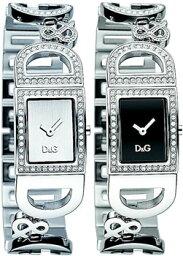 ドルチェ&ガッバーナ 腕時計(レディース) DOLCE&GABBANA D&Gドルチェ&ガッバーナ 腕時計ドルガバ アナログウォッチラインストーン ロゴブレス アイルランドシルバー IRELANDブラック DW0579 ホワイト DW0578ディー&ジー レディースアクセサリーのブレスレットとしてもOK