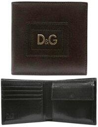 D&G 二つ折り財布(メンズ) DOLCE&GABBANA ドルチェ&ガッバーナメンズ二つ折財布 小銭入れダークブラウン DGロゴ金具 牛革DP0237-E1723-80051さいふ サイフ ウォレットD&G ドルガバ ディーアンドジー