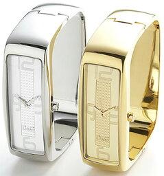 intelligence ドルチェ&ガッバーナ腕時計 インテリジェンスD&G TIME watchINTELLIGENCE DW0233 DW0234アナログ シルバー ゴールドバングルベルトラインストーン文字盤DOLCE&GABBANA ドルガバ ディー&ジー レディース