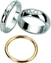 ドルガバ 指輪 ドルチェ&ガッバーナ 指輪アクセサリー プレゼントにD&G JEWELS DJ1118トリプルリング 3連リングゴールド×シルバーラインストーン&ロゴセパレートリング 約16号DOLCE&GABBANA ドルガバレディース