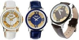 ドルチェ&ガッバーナ 腕時計(レディース) DOLCE&GABBANA 腕時計ドルチェ&ガッバーナ ウォッチホワイト ダークブルー ダークブラウン レザーベルトDW0775DW0777WHスケルトン文字盤 ゴールドD&G WATCH SESTRIEREドルガバ アナログディー&ジー セストリール男性用 メンズ