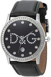 ドルチェ&ガッバーナ 腕時計(レディース) DOLCE&GABBANA D&Gレディース腕時計ドルガバ アナログウォッチドルチェ&ガッバーナグロリア ラインストーンロゴ&日付け表示ブラック×クリア ブロンズGLORIAディー&ジーアクセサリー ブレスレット